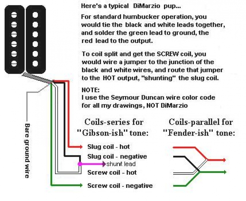 dimarzio pickup wiring diagrams