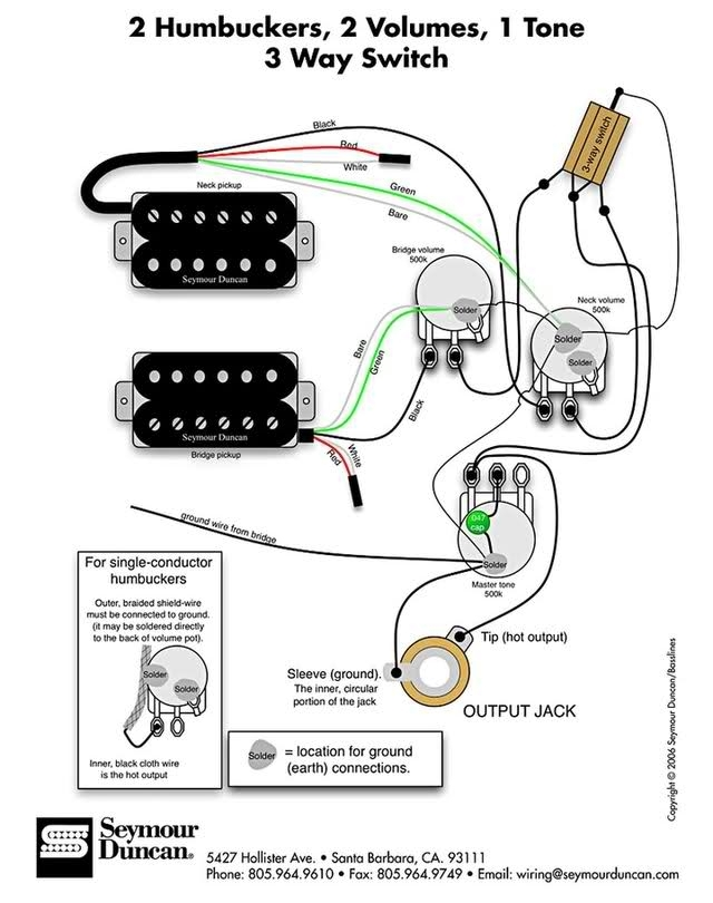 artist les paul wiring diagram