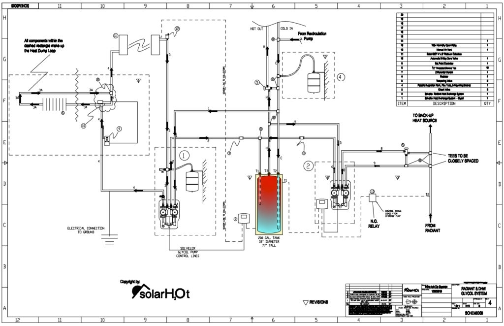 piping schematic for a hydronic boiler