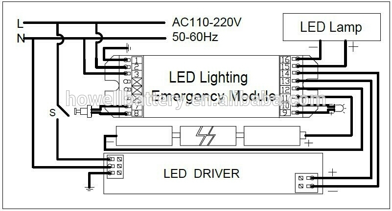 emergency light wiring diagram maintained