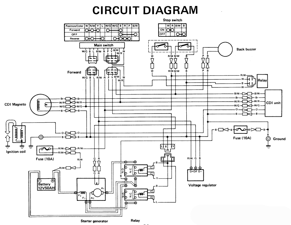 headlight buzzer wiring diagram