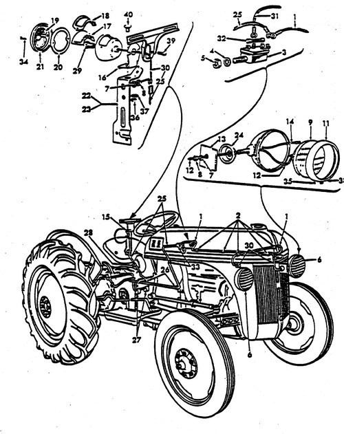 alternator wiring diagram in addition ford tractor alternator wiring
