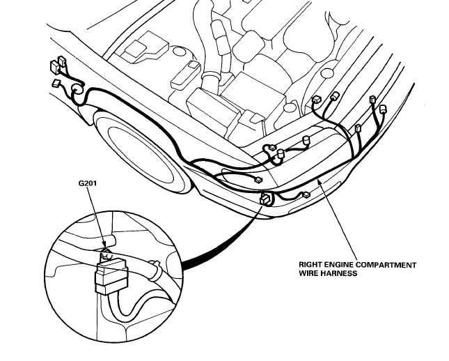 2001 honda accord wiring harness