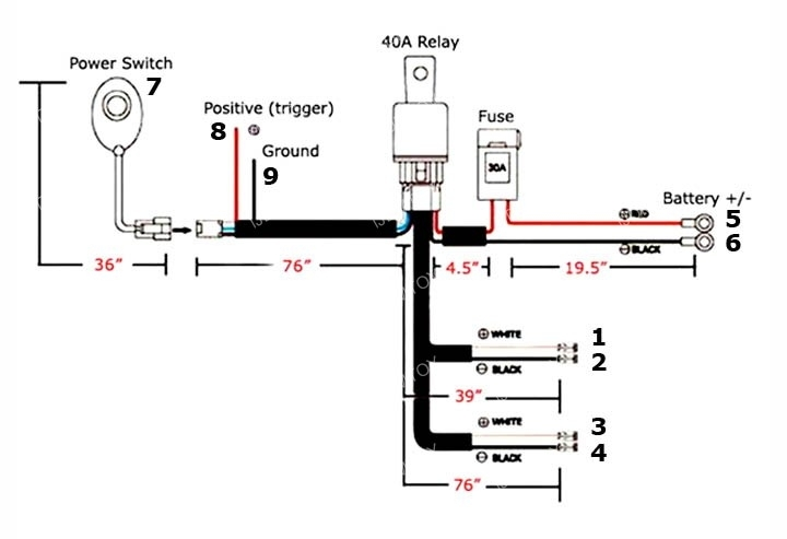how to wire led light bar relay