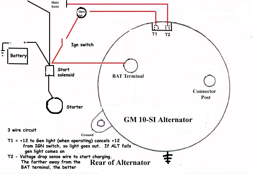 gm alternator wiring diagram 3 wire