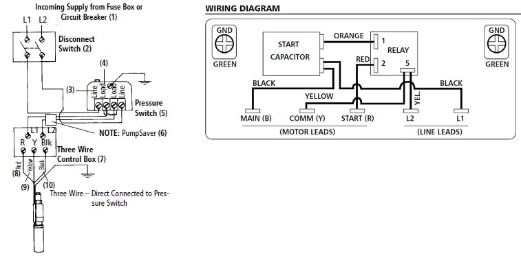 3 wire well pump wiring diagram