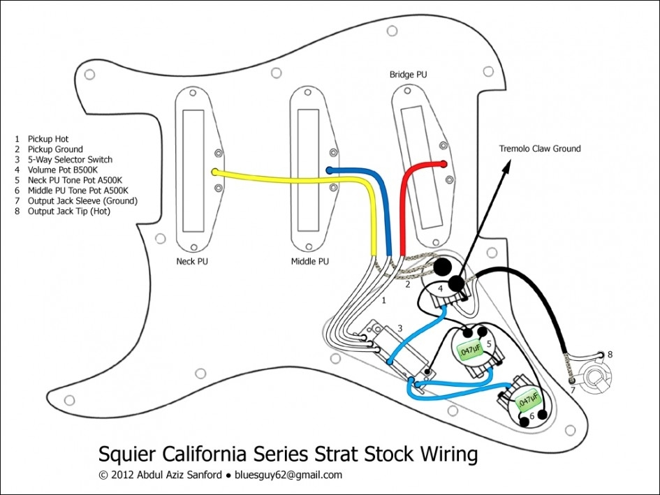 guitar pickup wiring diagram schematic
