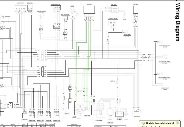 150cc quad bike wiring diagram