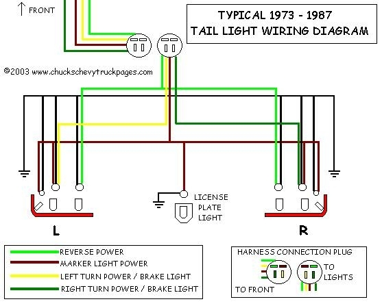 93 chevy truck tail light wiring diagram