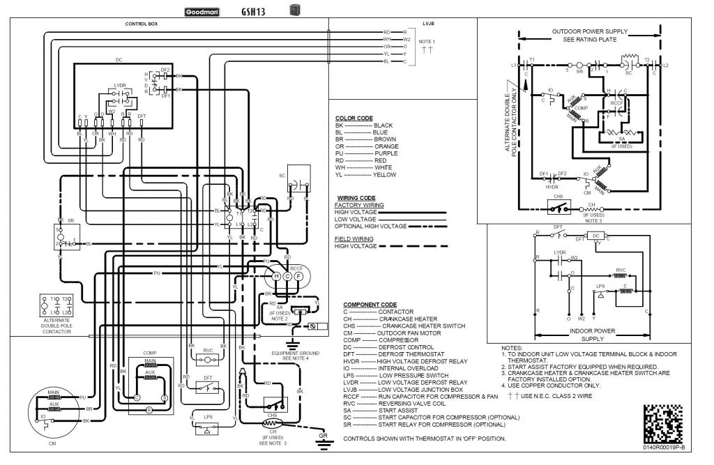 goodman heat wiring diagram