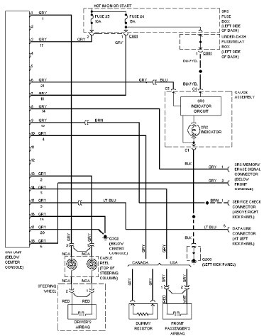 92 civic headlight wiring diagram