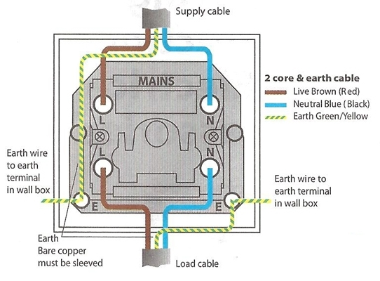 wiring diagram double light switch