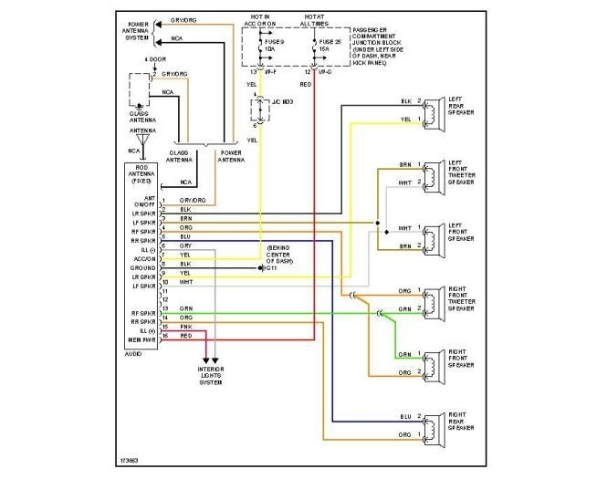 santa fe radio wiring diagram