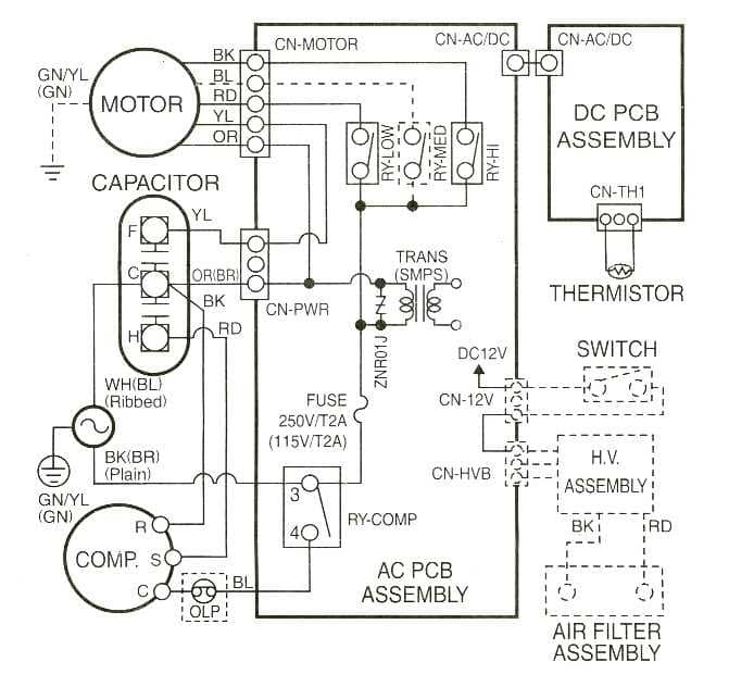 dual a c thermostat wiring diagram