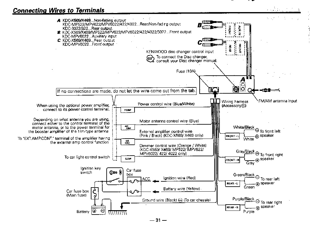 kenwood ddx6019 wiring diagram