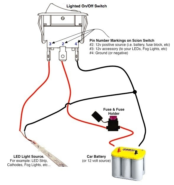 5 pin lighted rocker switch wiring diagram