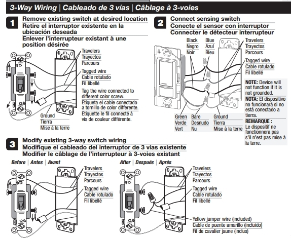 Lutron 3 Way Motion Switch Wiring Diagram Auto Electrical Wiring