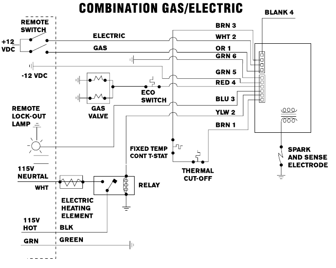 rv hot water heater wiring diagram