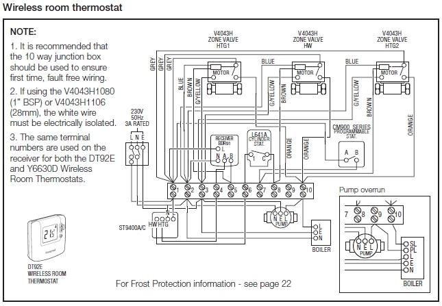 central heating hot water wiring diagram