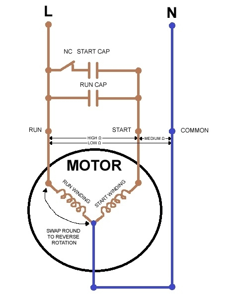 3 phase motor wiring diagram change direction