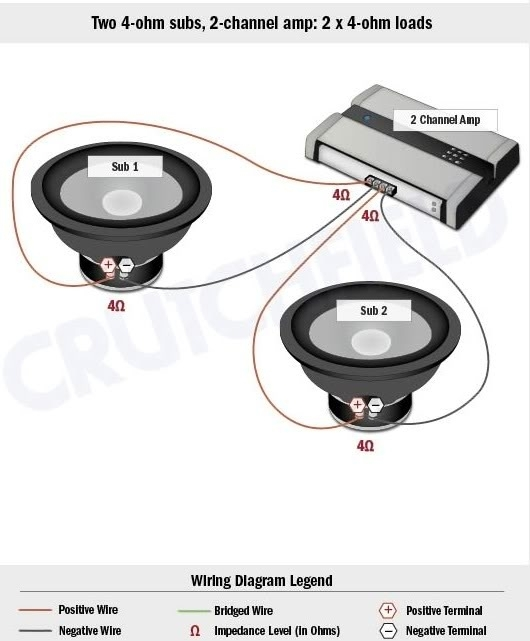 4 Channel Amp To 2 Subs Wiring Diagram Electrical Circuit