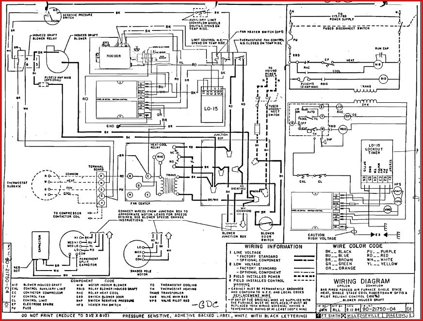 goodman air handler control board wiring diagrams with