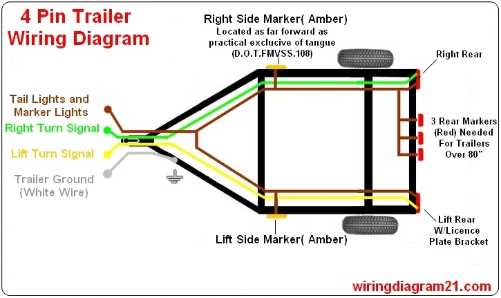 4 wire trailer light wiring diagram