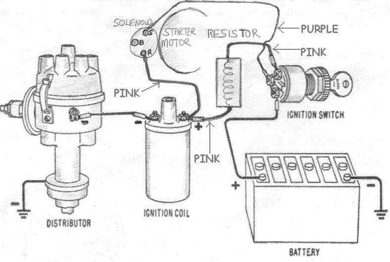 1956 chevy distributor wiring diagram