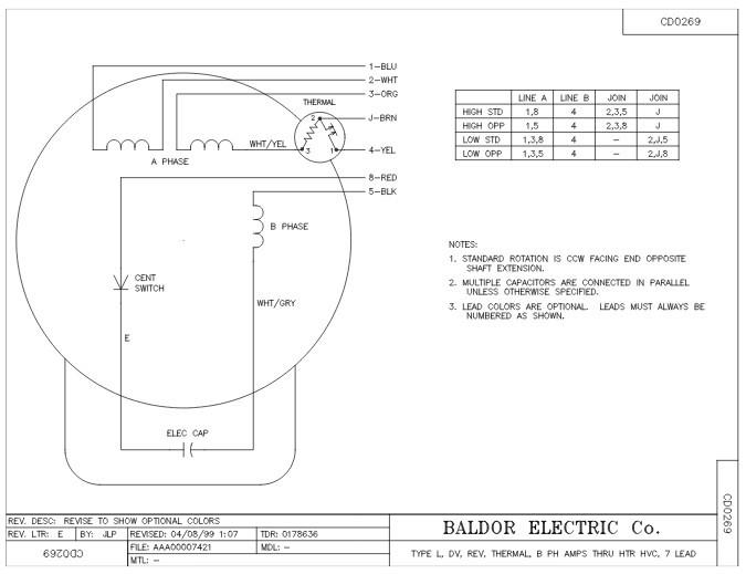 baldor 3 phase wiring diagram free download