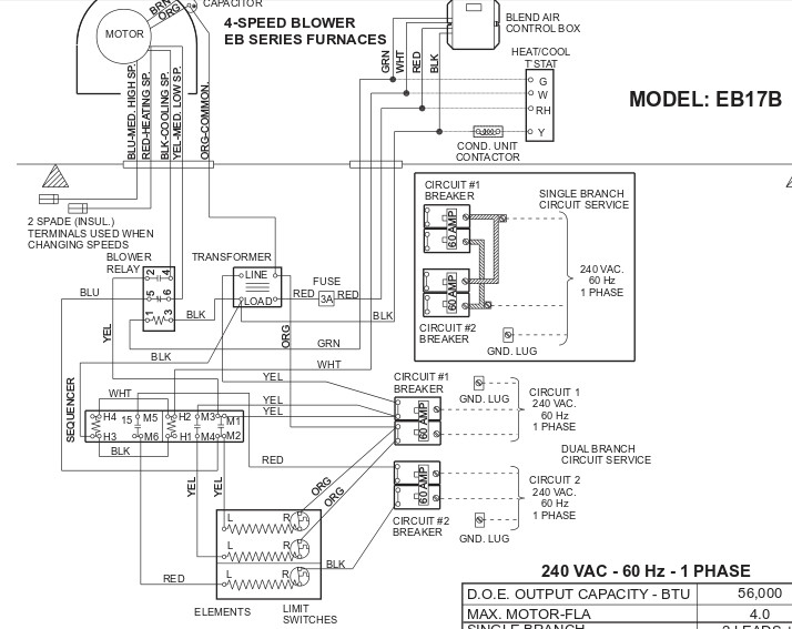 electric furnace thermostat wiring