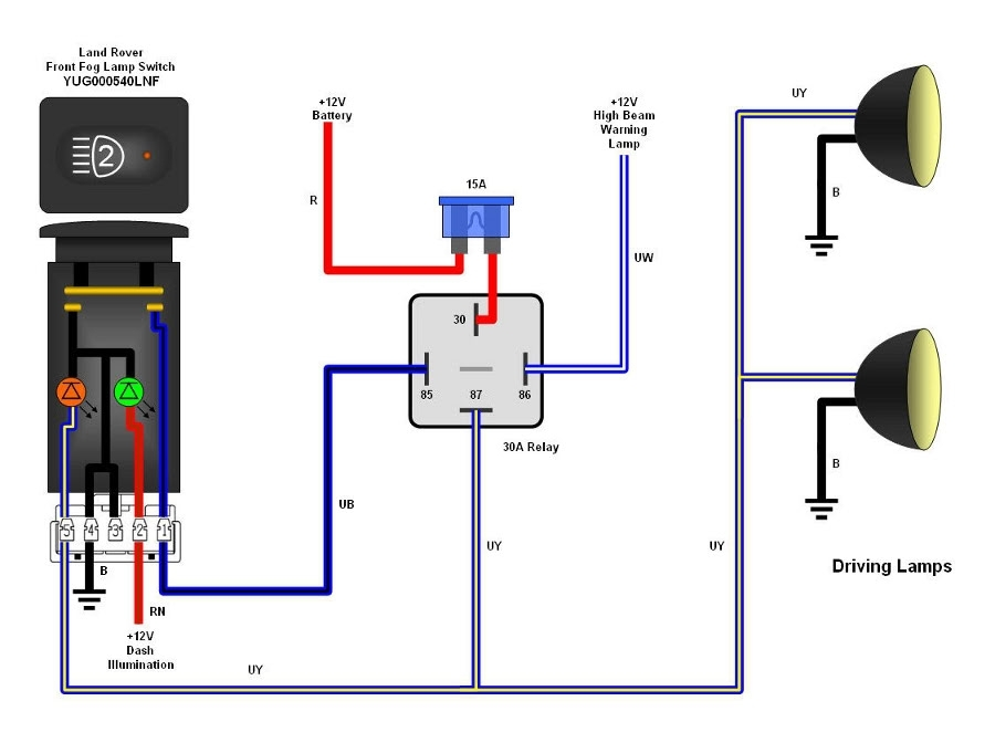 wiring diagram for switch to light