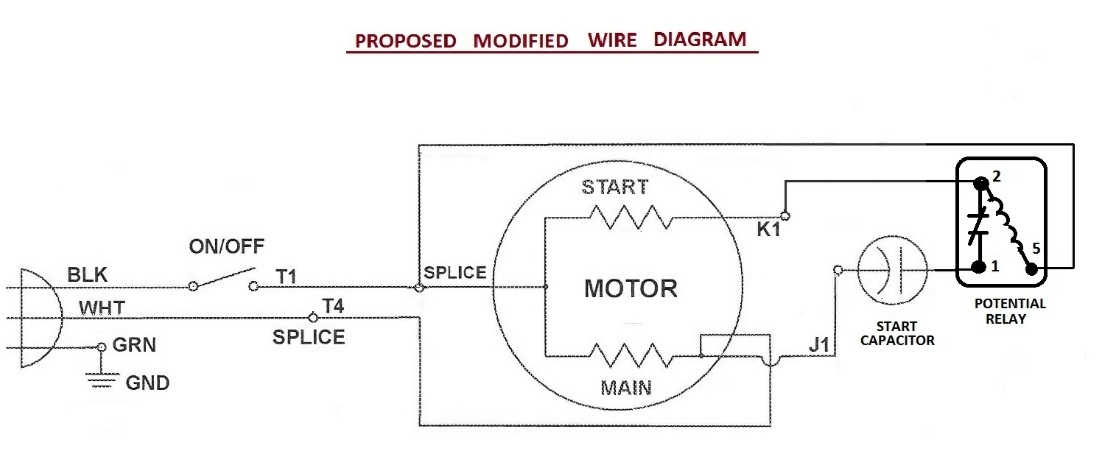 electric potential relay wiring diagram