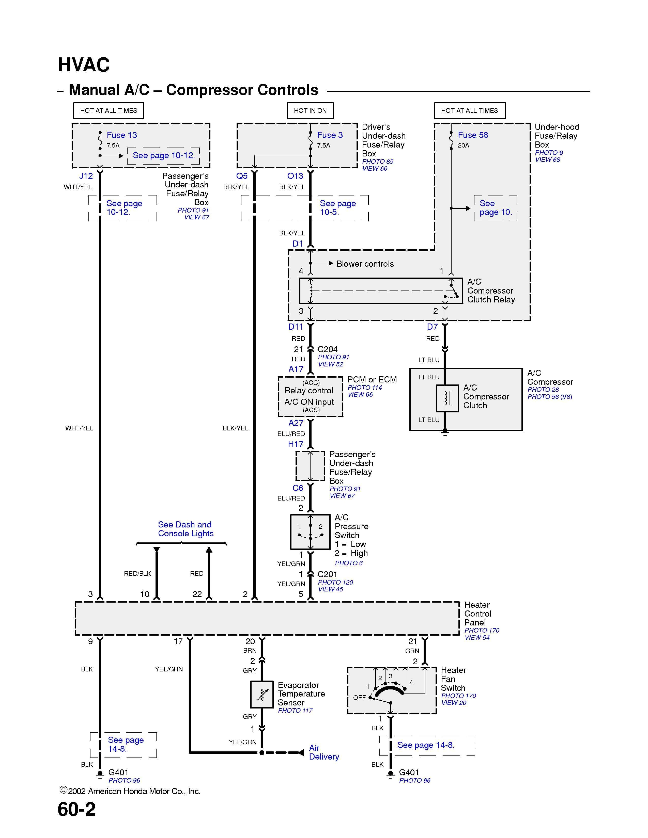 2003 Honda Accord Fuse Diagram For Air Conditioning Wiring 2001 Auto