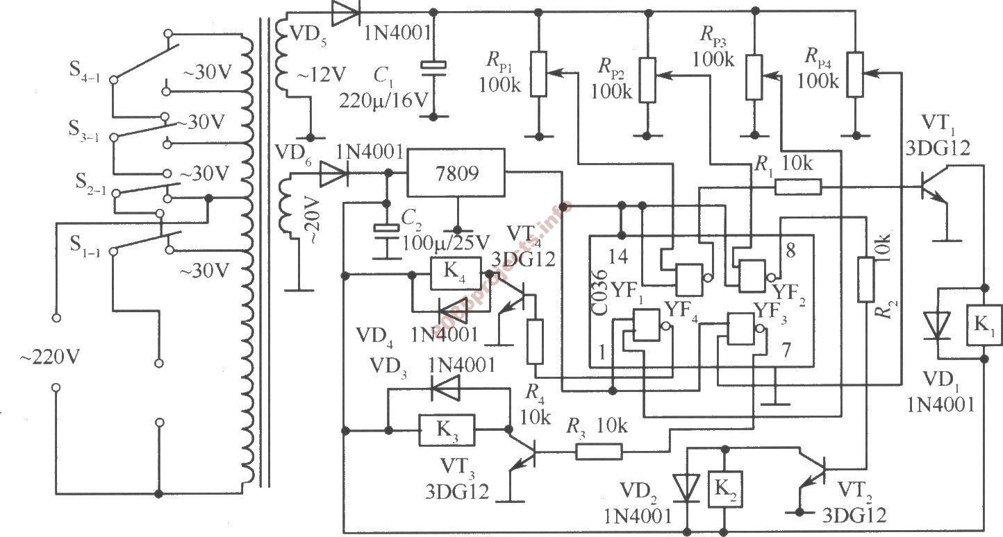 auto voltage regulator circuit diagram