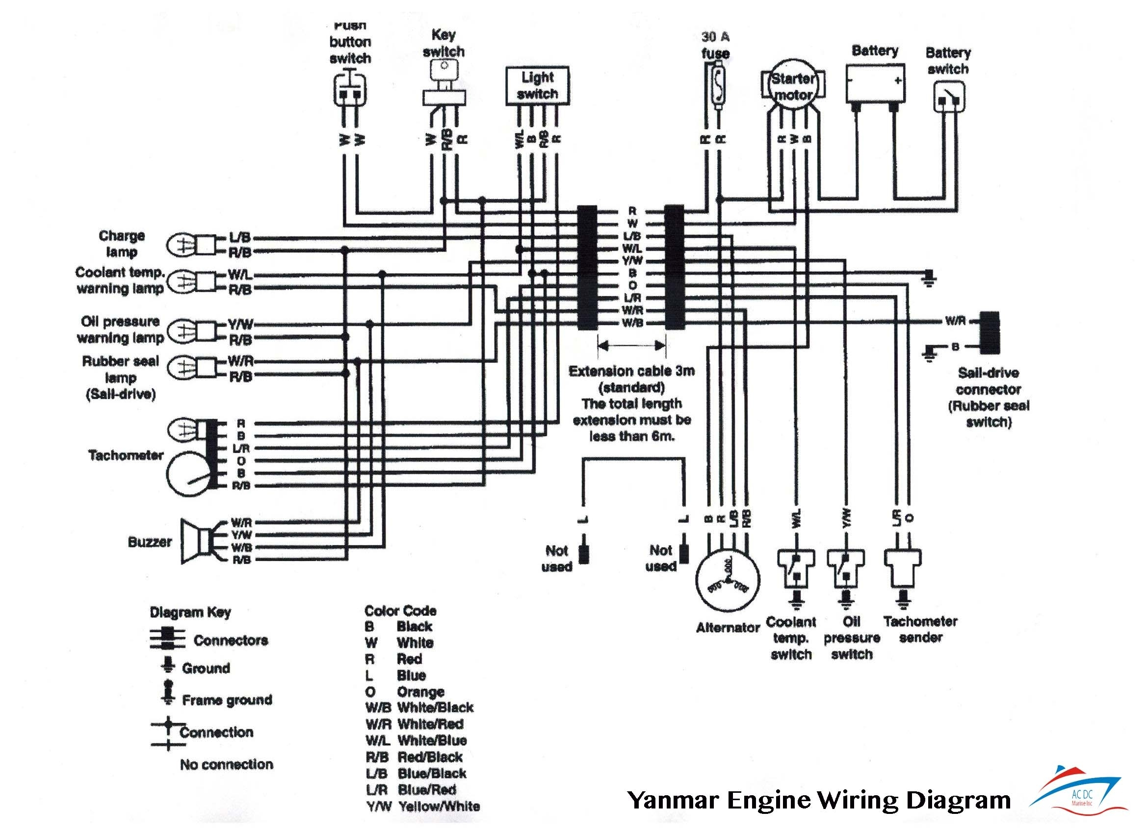 boat motor wiring diagram schematic