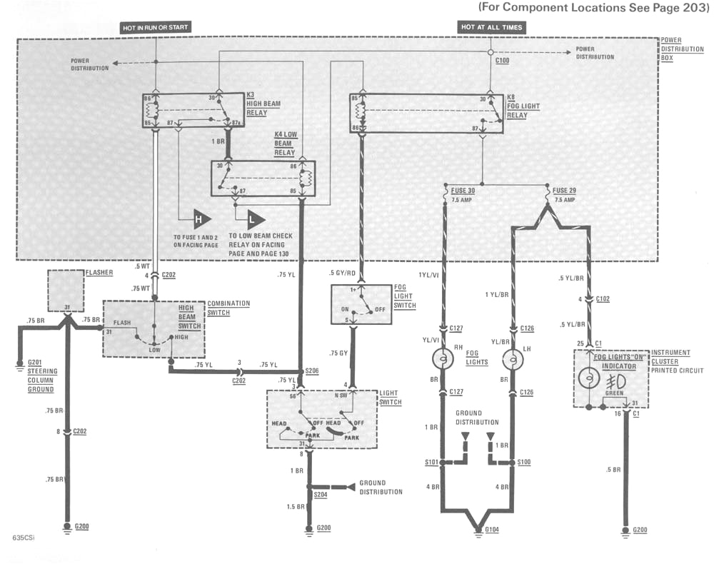 e36 light wiring diagram