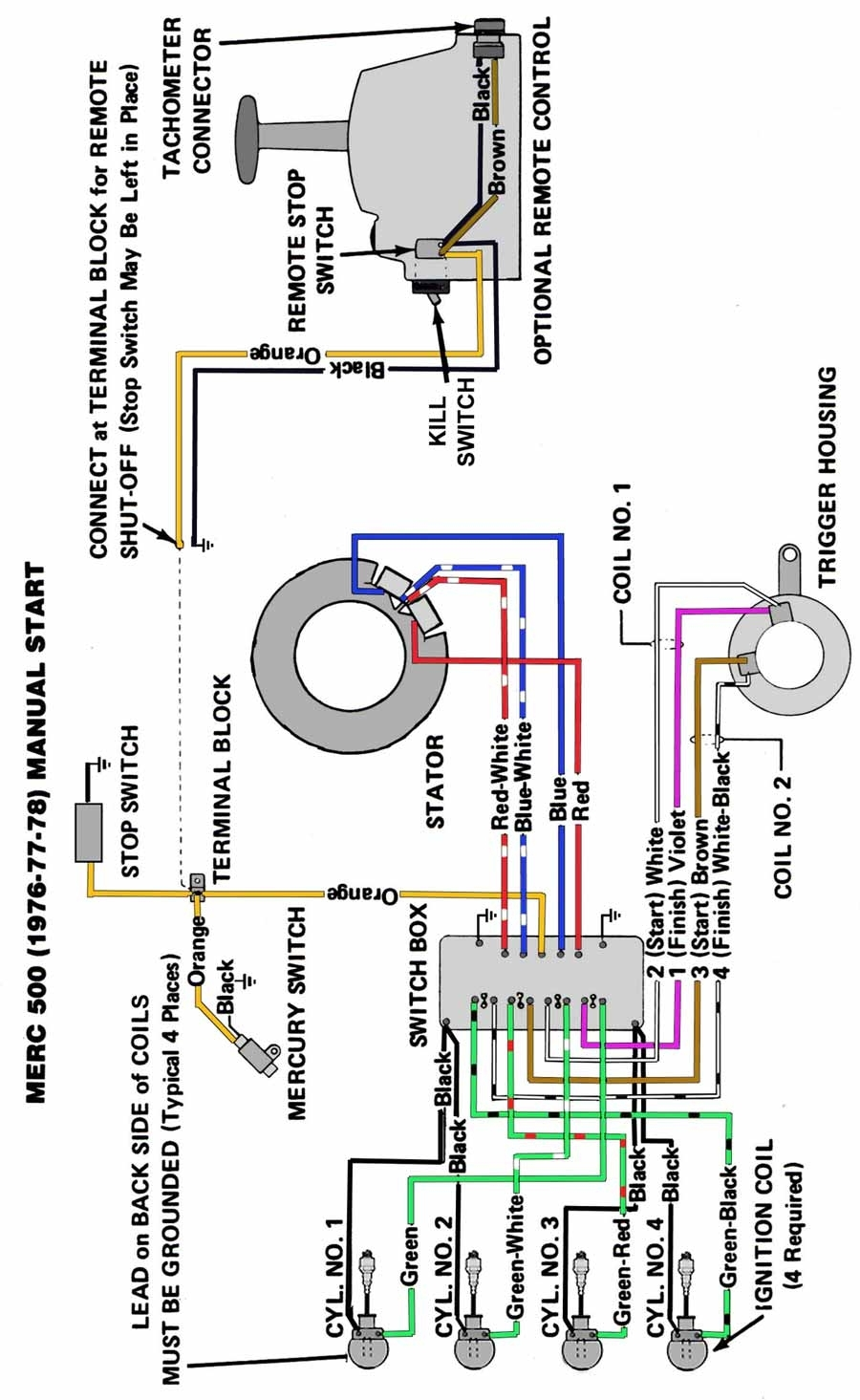 wiring diagram for mercury outboard ignition switch