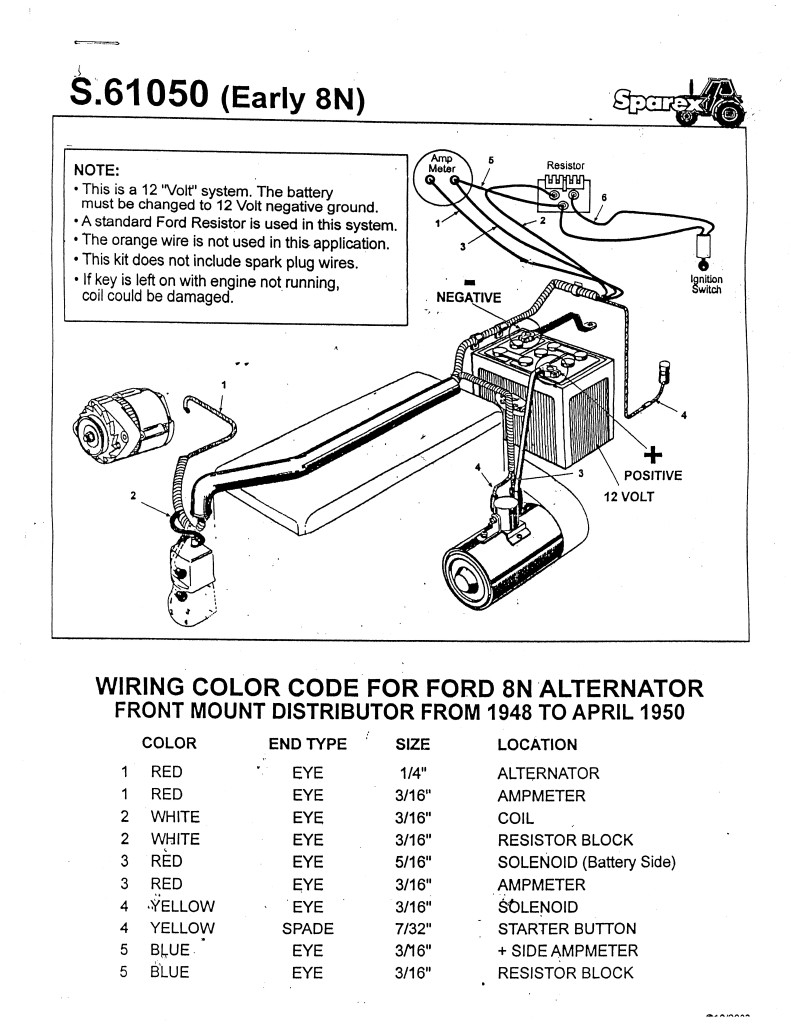 12 volt 8n ford tractor wiring diagram