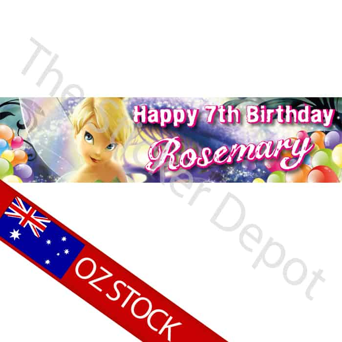 Tinkerbell Personalised Birthday Banner