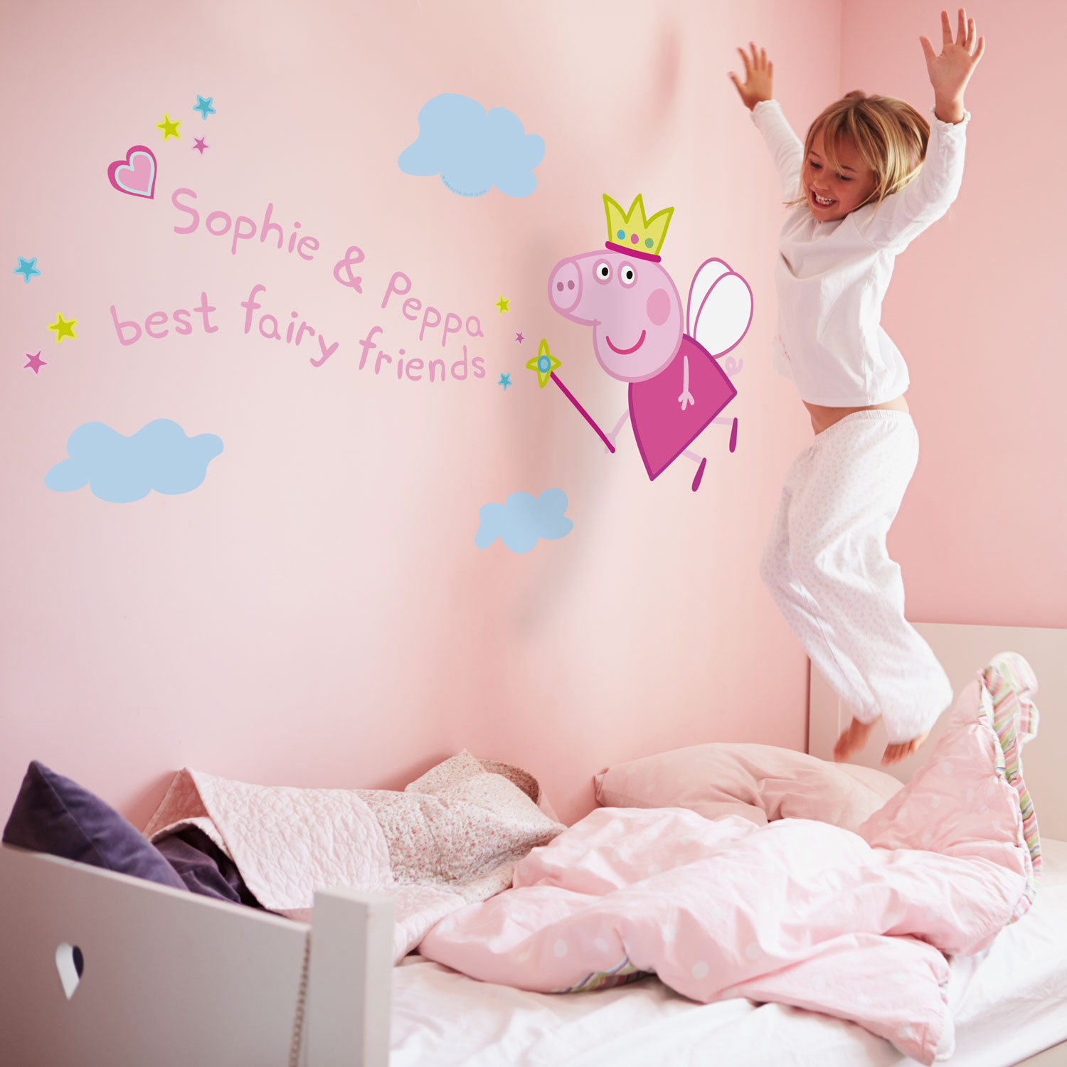 Personalised Sticker Personalised Fairy Princess Peppa Wall Sticker