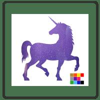 Standing Unicorn Wall Stickers
