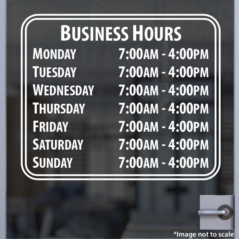 Custom Business Open Hour Sign Style 5