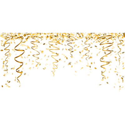 Falling From Stars Wallpaper Gold Confetti Transparent Overlay Pictures To Pin On
