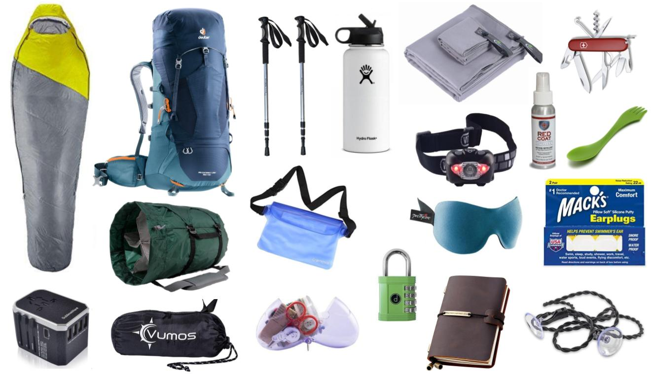 Camino Santiago Packing List Detailed Packing List For The Camino De Santiago Stingy Nomads
