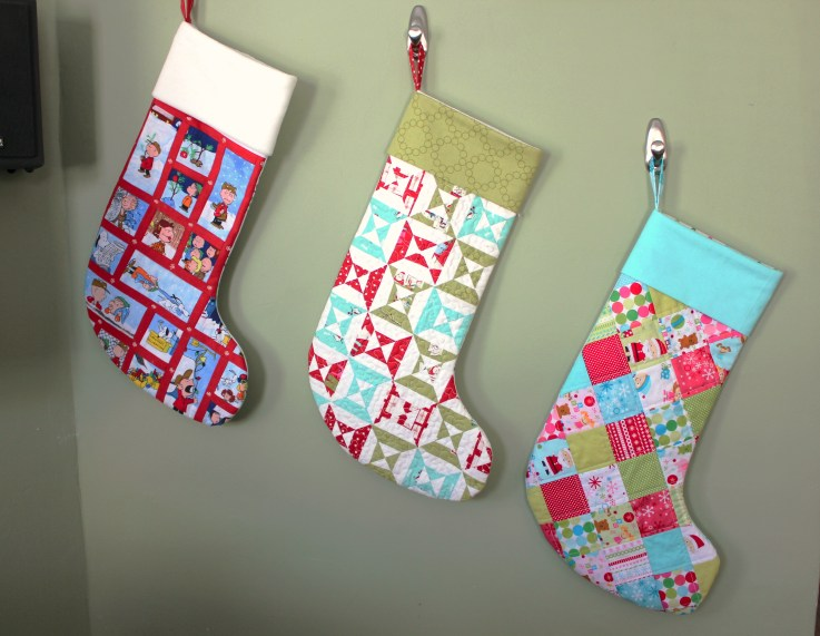Modern quilted stockings, by Stitchified