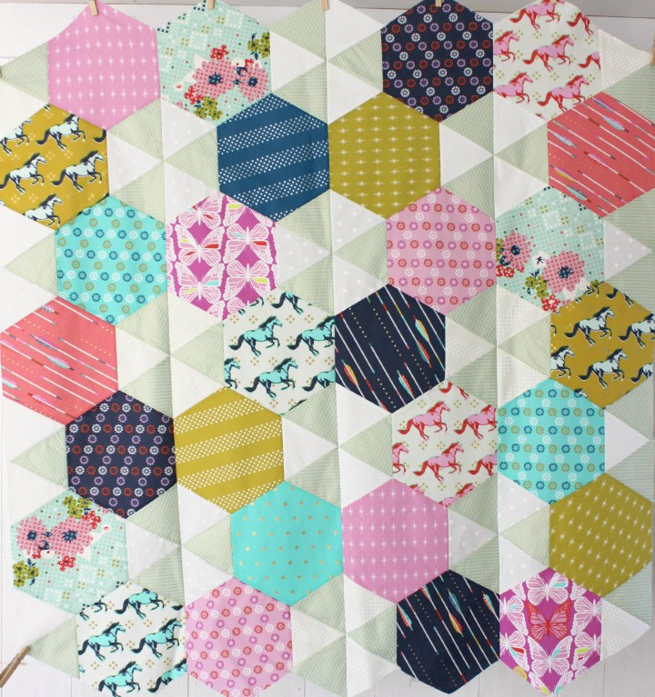 Baby Hexagon Quilt, by Stitchified