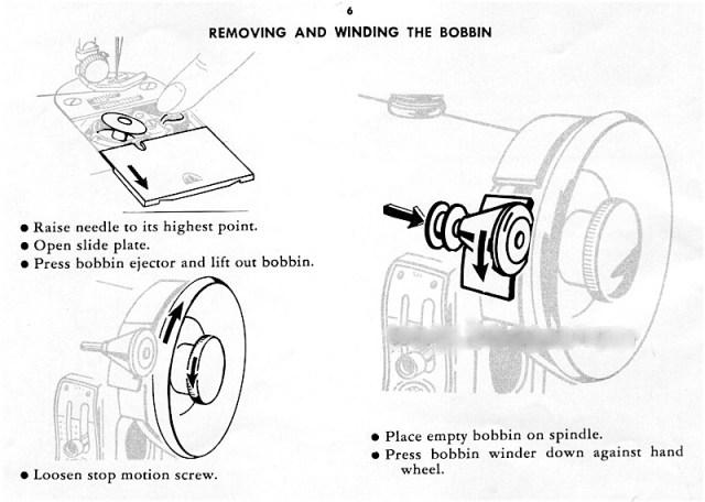 threading a singer sewing machine 1950