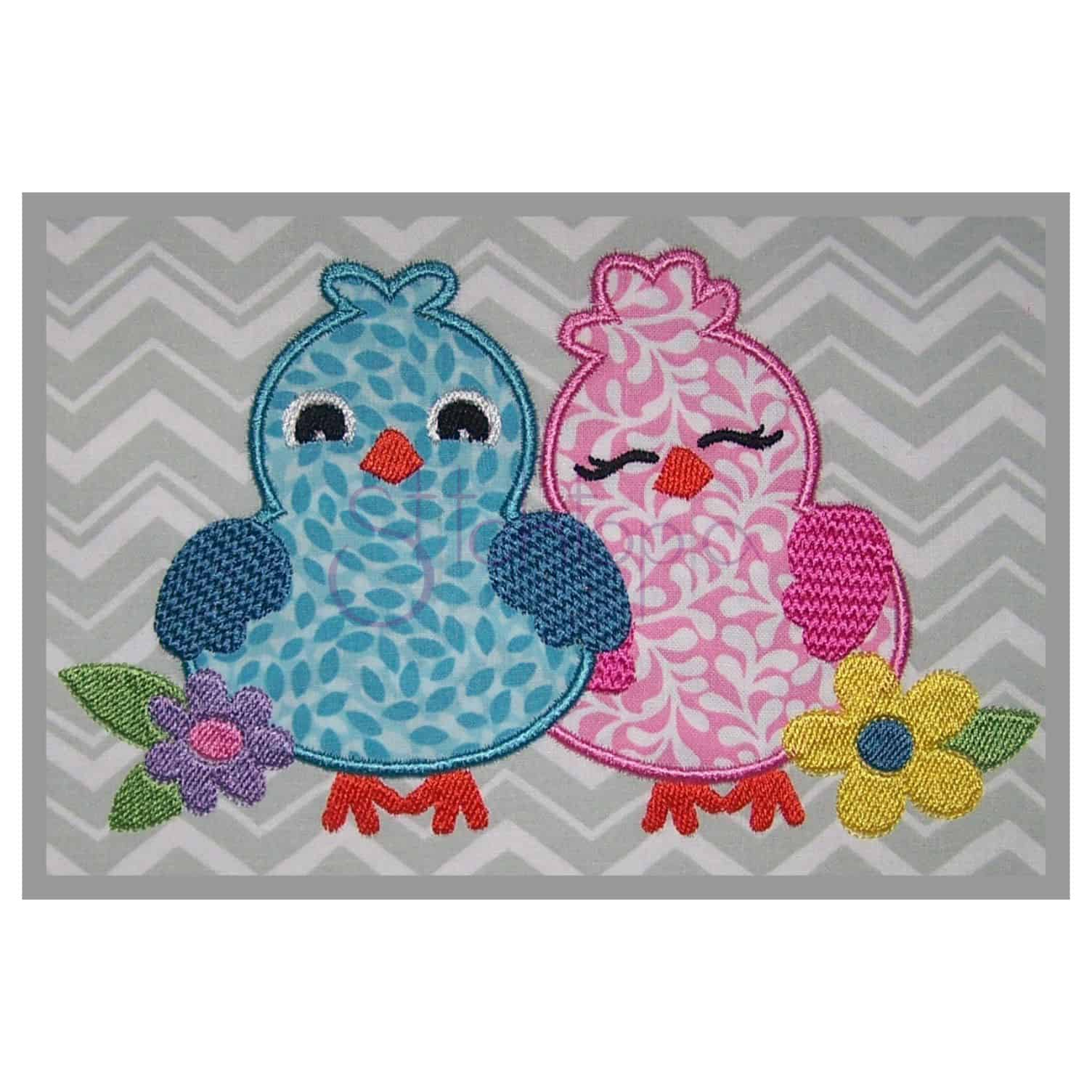 Applique Bird Applique Design Lovebirds Stitchtopia