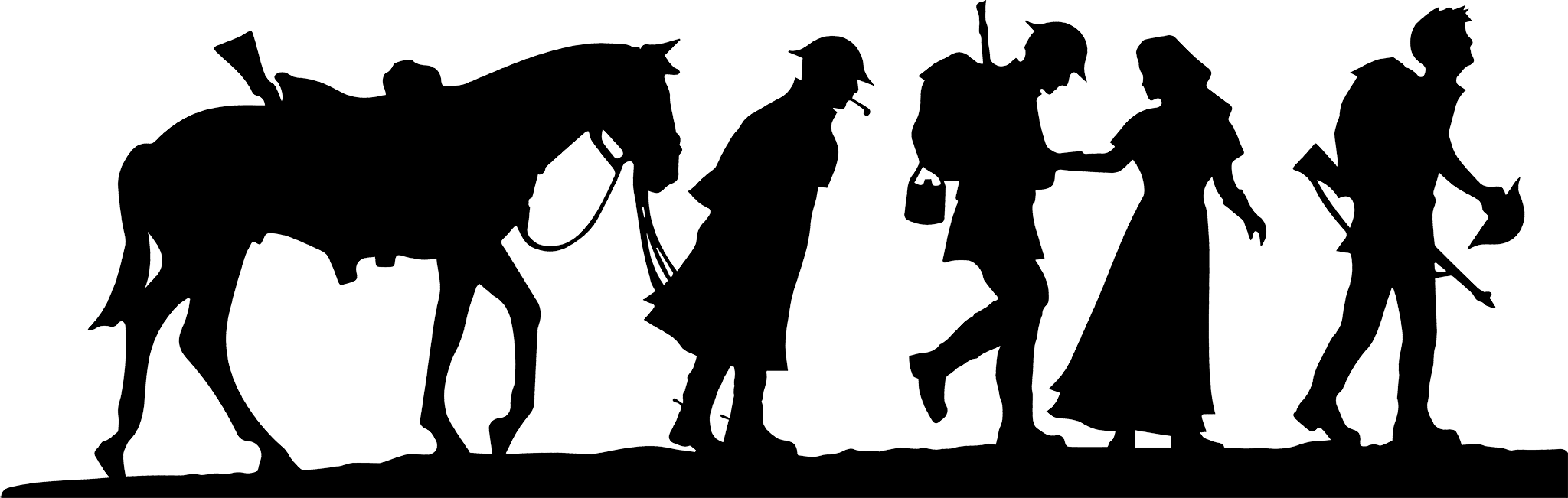 Silhouette Soldiers Design