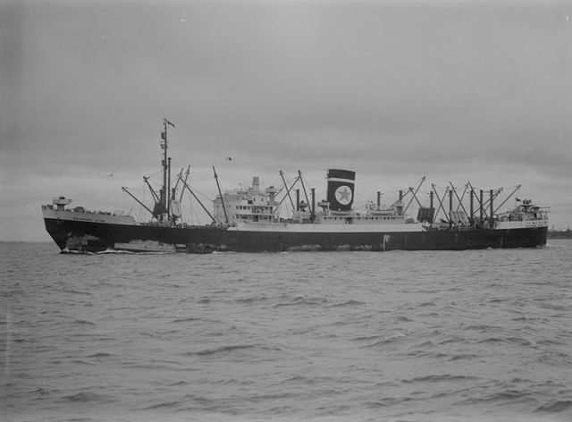 The Brisbane Star, another cargo liner from the Blue Star Line, which also operated the Arandora Star
